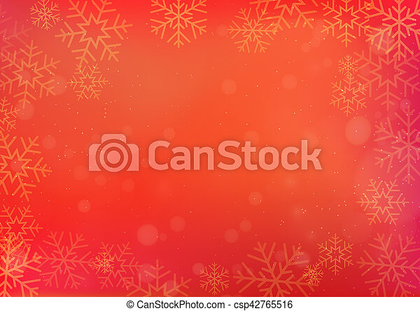 red chinese new year and christmas background with snowflake csp42765516