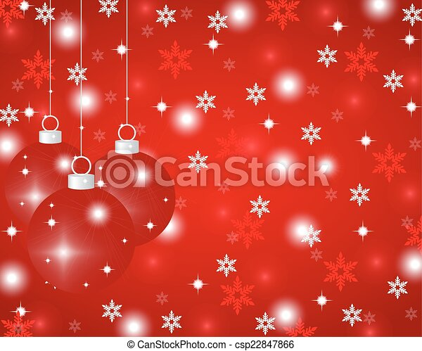 red Christmas background  - csp22847866