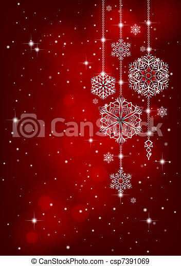 Red Christmas background - csp7391069