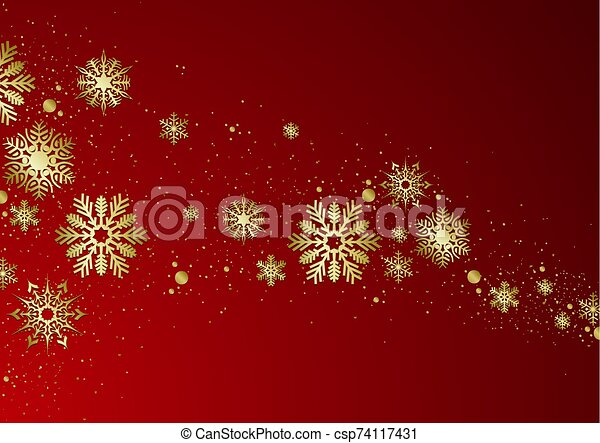 Red Christmas Background - csp74117431