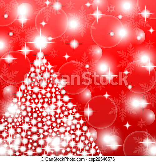 Red christmas background  - csp22546576