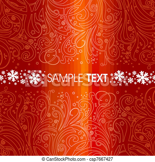 Red christmas background - csp7667427
