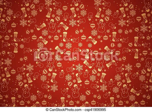 Red Christmas Background Texture - csp41906995