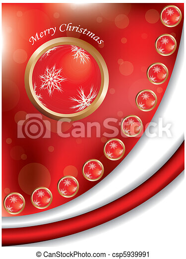Red Christmas background - csp5939991