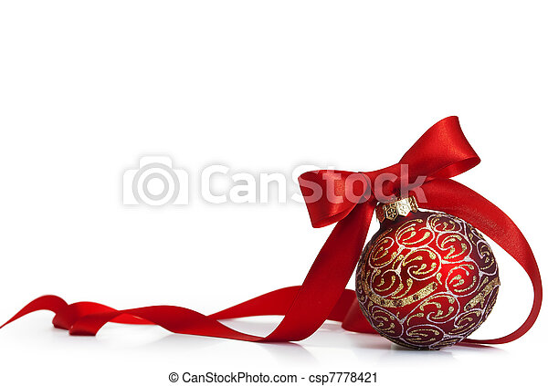 Red Christmas ball - csp7778421