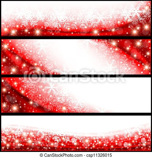 Red Christmas Banner - csp11326015