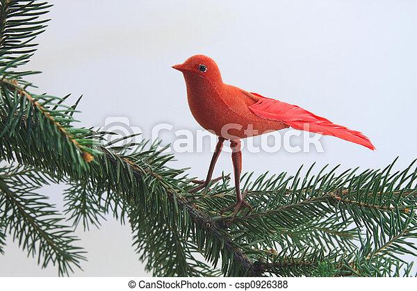 Red Christmas Bird - csp0926388