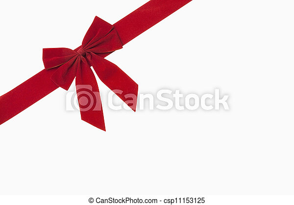 Red Christmas Bow - csp11153125