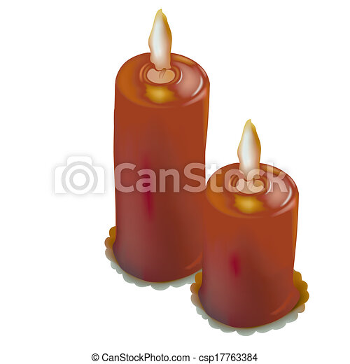 Red Christmas Candles - csp17763384