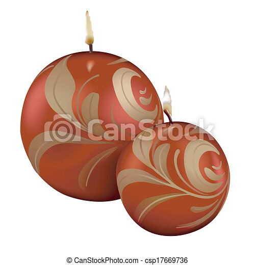 Red Christmas Candles - csp17669736