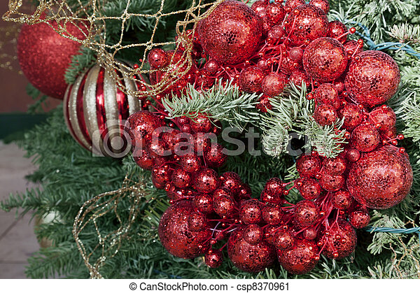 Red Christmas Decoration - csp8370961