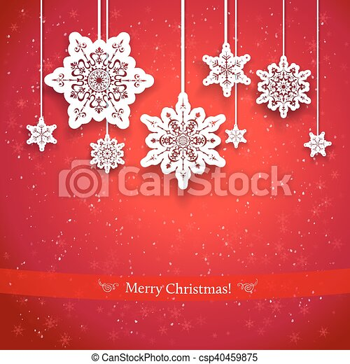 Red Christmas design - csp40459875