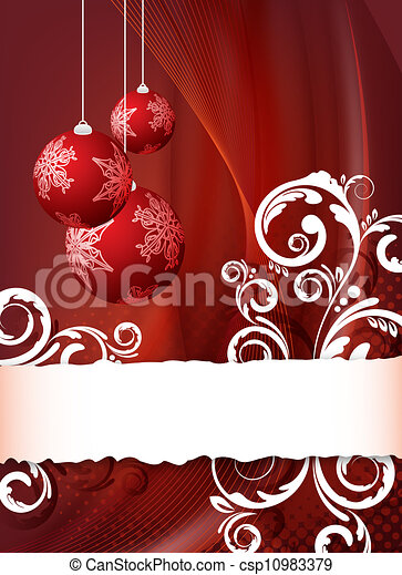 red christmas flyer csp10983379 - Red Christmas Background