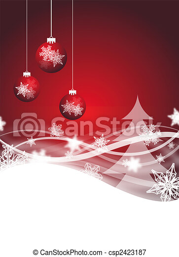 red christmas flyer - csp2423187