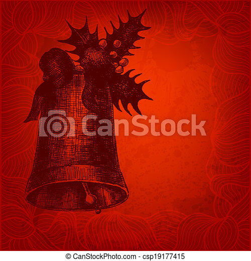 Red Christmas illustration for Your design - csp19177415