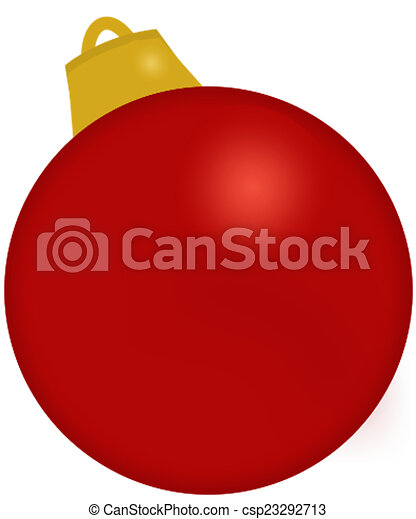 Red Christmas Ornament - csp23292713