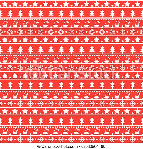 Red Christmas pattern - csp30964468