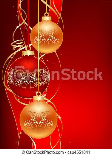 red christmas postcard - csp4551841
