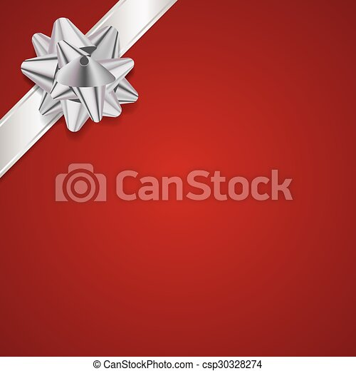 Red Christmas Present Background - csp30328274