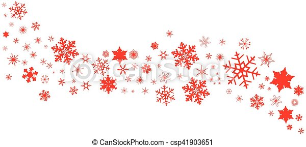Red Christmas Snowflake Banner A Banner Of Snowflakes In Pastel