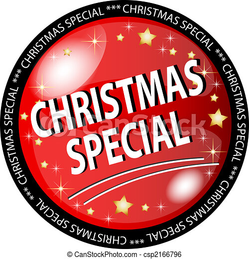 red christmas special button - csp2166796
