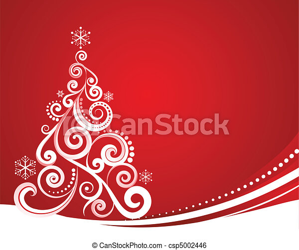Red Christmas template - csp5002446