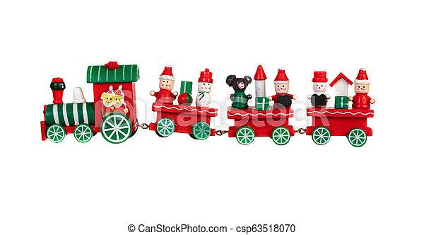 Red Christmas train - csp63518070