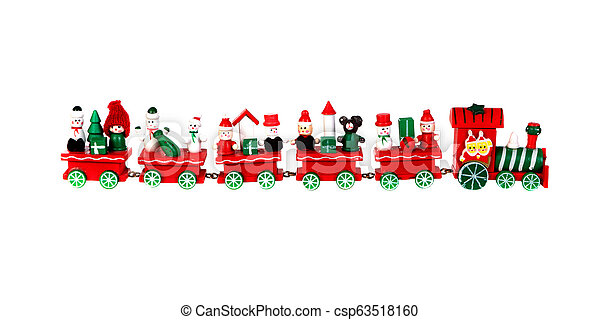 Red Christmas train - csp63518160