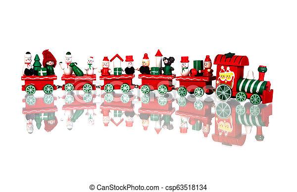 Red Christmas train - csp63518134