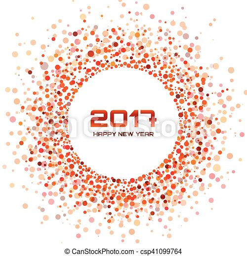 Red circle new year 2017 confetti frame on white background red vector red circle new year 2017 confetti frame on white background csp41099764 voltagebd Images