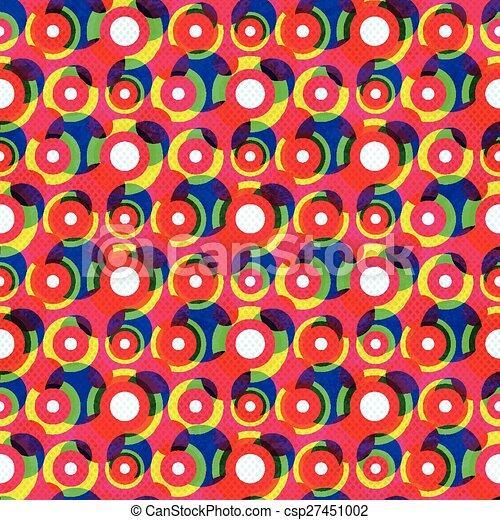 red circle seamless pattern - csp27451002