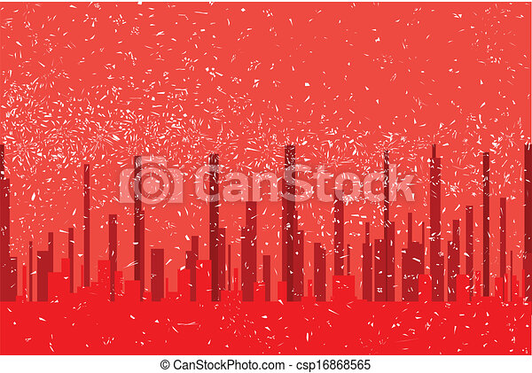 Red City BAckground - csp16868565