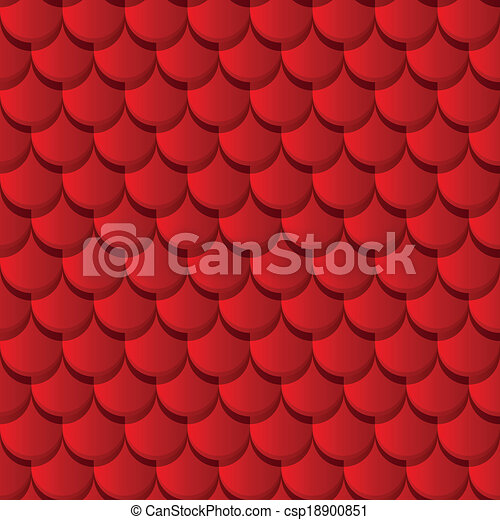 Red clay roof tiles - csp18900851