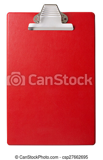 Red clipboard isolated - csp27662695