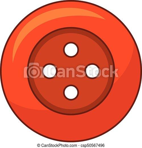 Red cloth button icon, cartoon style - csp50567496