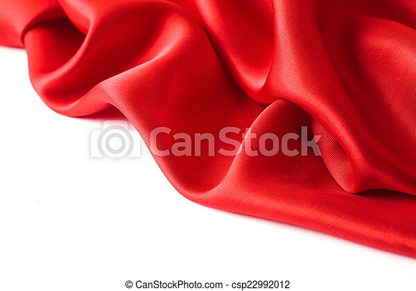 red cloth on a white background - csp22992012