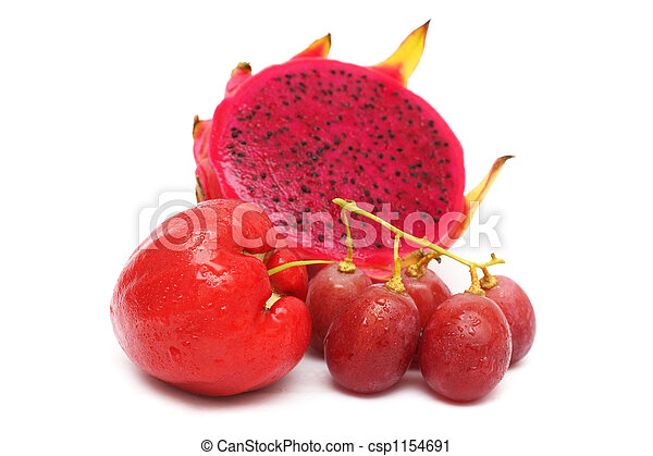 Red Color Fruits - csp1154691