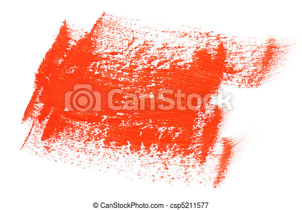 Red color paint brush strokes - csp5211577