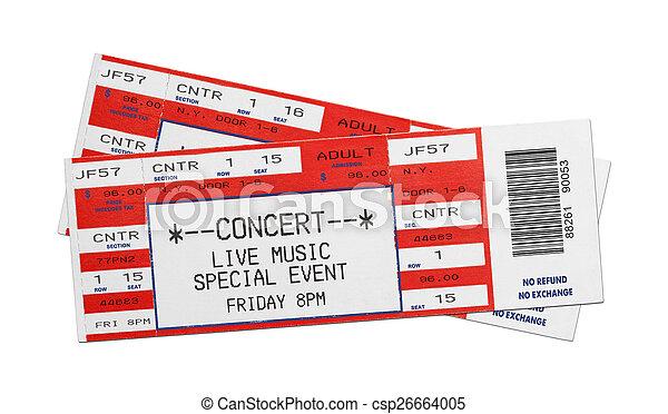 Red Concert Tickets - csp26664005
