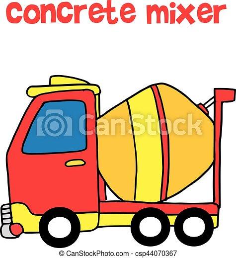red concrete mixer cartoon vector collection stock rh canstockphoto com concrete clipart png concrete pump clipart