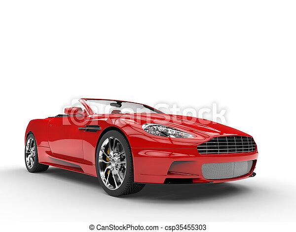 Red convertible sports car - csp35455303