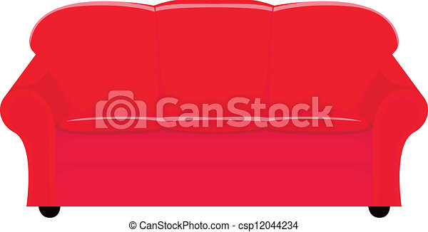 vector illustration of red couch rh canstockphoto com pink couch clipart coach clipart public domain