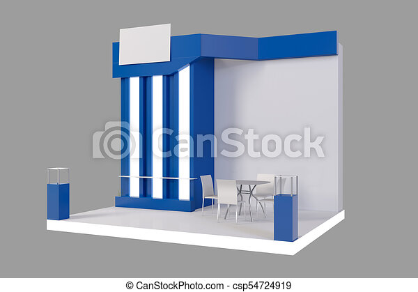 Exhibition Stand Template : Red creative exhibition stand design booth template d render