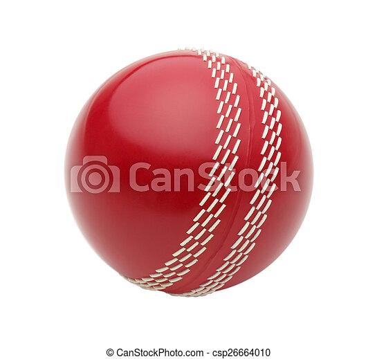Red Cricket Ball - csp26664010