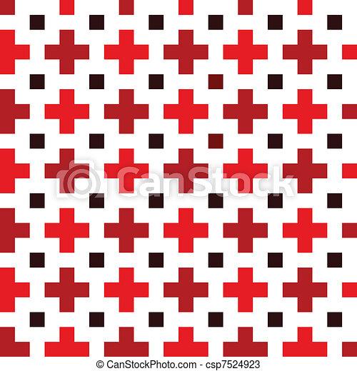 Red cross seamless pattern - csp7524923