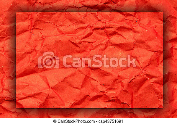 Red crumpled paper, for backgrounds - csp43751691