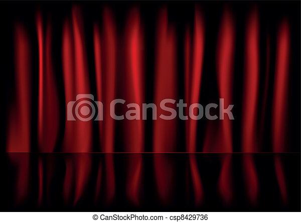 red curtain backbround - csp8429736