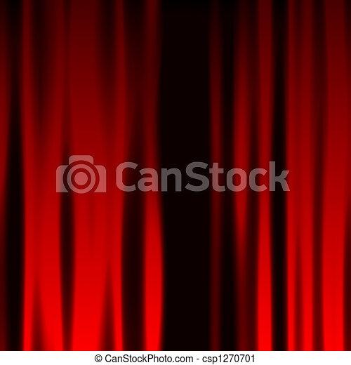 Red Curtain - csp1270701