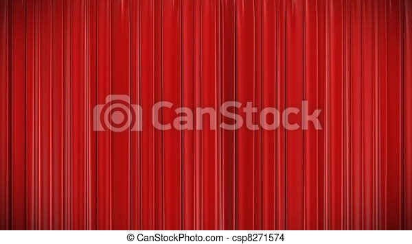 Red Curtain Opening And Closing 3d. Highly Detailed 3d... Stock Footage    Search Stock Videos, Movies, Digital Video Motion   Csp8271574