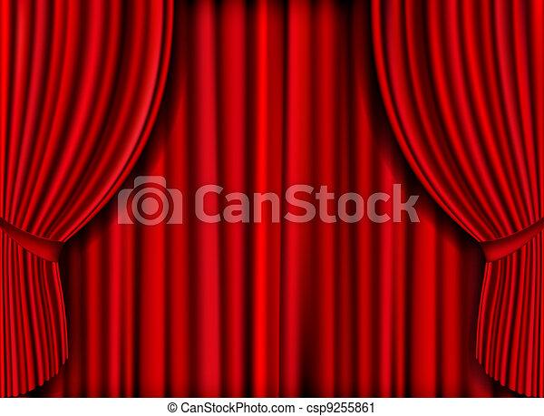 Red Curtain - csp9255861